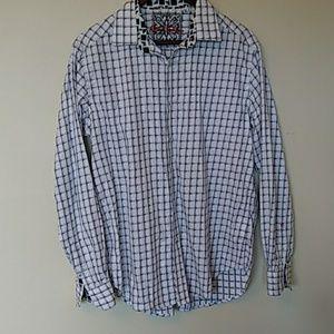 Robert Graham long sleeve men's shirt flip cuff